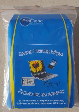 ProClene Комплект за почистване на лаптоп 10 сухи/мокри кърпички