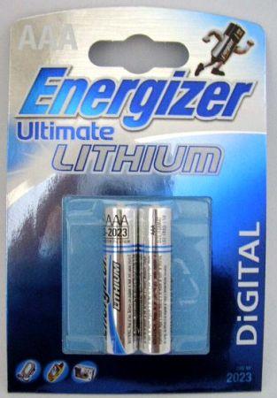 Батерия Energizer Ultimate Lithium  2xААA (L92) 1.5 V