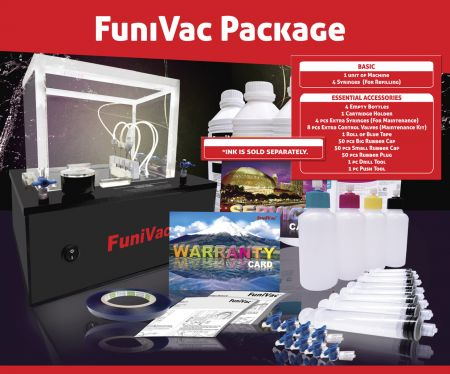 Funivac - универсална система за презареждане на мастилени касети