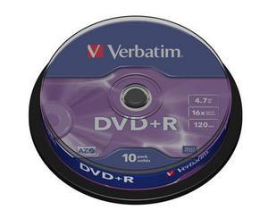 Verbatim DVD R 4.7GB шпиндел (10) (43498)