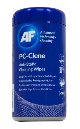 Навлажнени антистатични почистващи кърпички в туба PCC100E