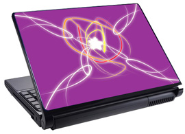 Скин за лаптоп LS0001, лилав