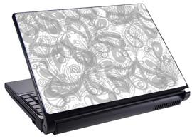 Скин за лаптоп LS0022, сив-бял