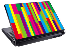 Скин за лаптоп LS0040, цветно райе