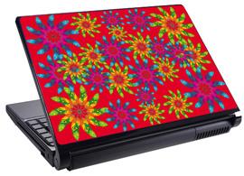 Скин за лаптоп LS0046, червени цветя