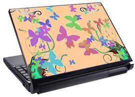 Скин за лаптоп LS3001, екрю пеперуди