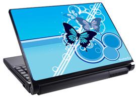 Скин за лаптоп LS3003, син пеперуди
