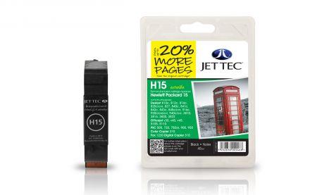 C6615D, HP15 Съвместима мастилена касета (черна)