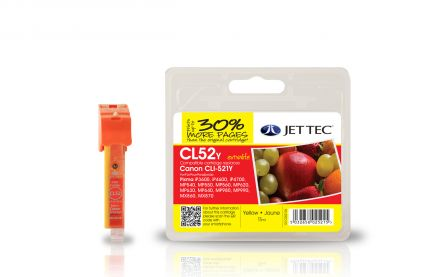 CLI-521 Съвместима мастилена касета (жълта) с чип