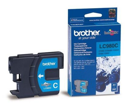 Brother LC980C Оригинална мастилена касета (циан)