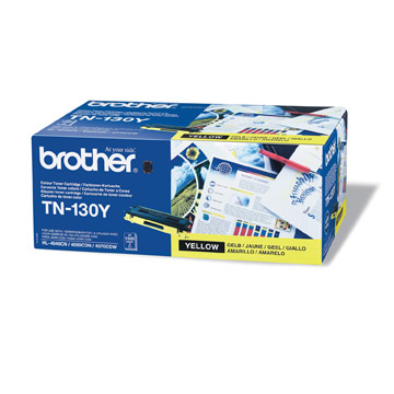 Brother TN130y оригинална тонер касета (жълта)