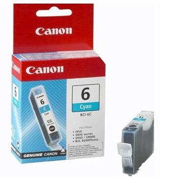 Canon BCI-6C Оригинална мастилена касета (циан)