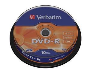 Verbatim DVD-R 4.7GB шпиндел (10) (43523)