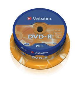 Verbatim DVD-R 4.7GB шпиндел (25) (43522)