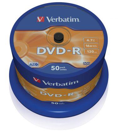 Verbatim DVD-R 4.7GB шпиндел (50) (43548)