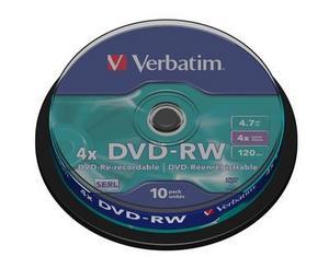 Verbatim DVD-RW 4.7GB шпиндел (10)