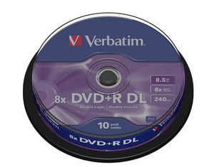 Verbatim DVD R 8.5GB Dual Layer шпиндел (10)