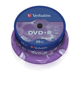 Verbatim DVD R 4.7GB шпиндел (25) (43500)