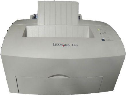 Втора употреба Lexmark E322N монохромен лазерен принтер с мрежа