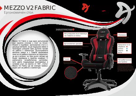 Геймърски стол Arozzi Mezzo V2 Fabric, черно